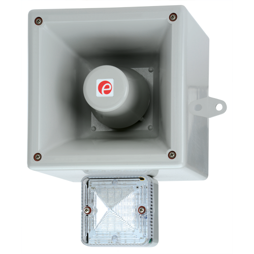 HAL121H Electronic Siren, Buzzer, Claxon & Bell with LED Beacon